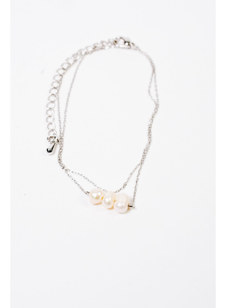 Accessories Three Pearl Bracelet