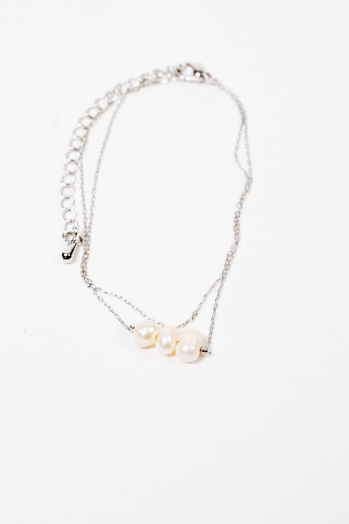 Accessories Three Pearl Bracelet