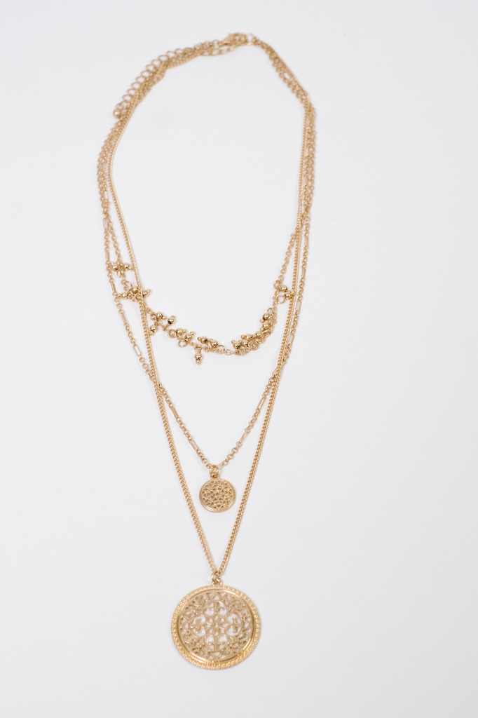 Accessories Layered Pendant Necklace