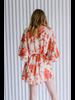 Mini Ruffled Brocade Dress