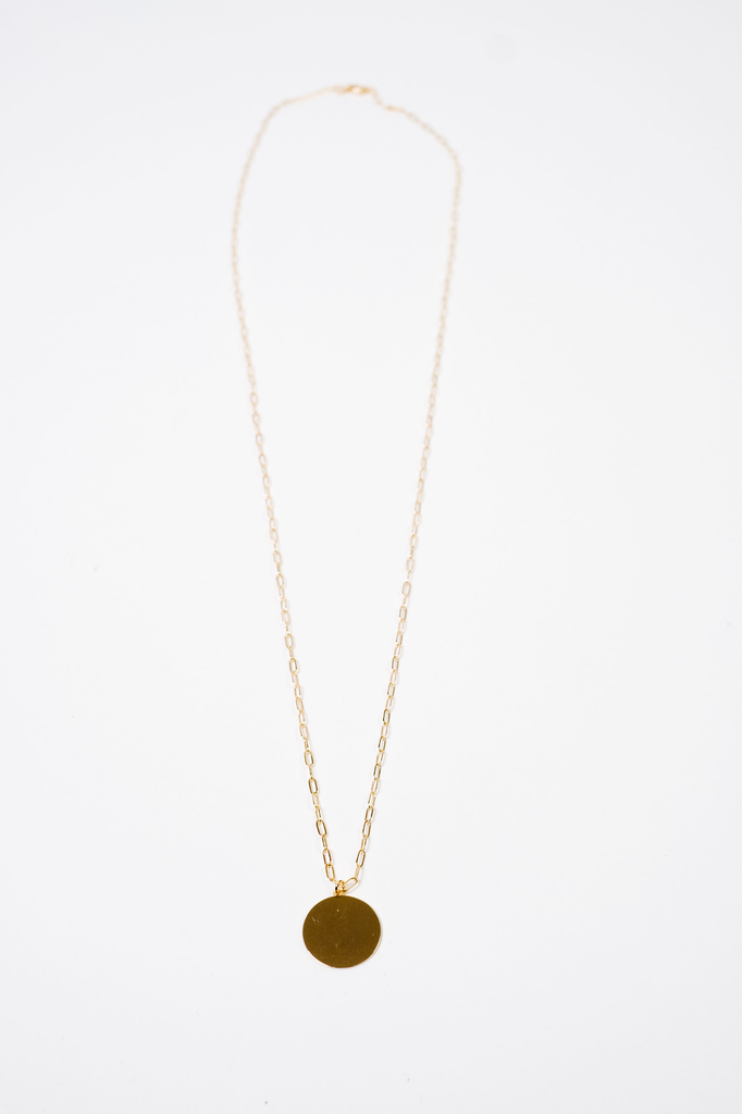 Accessories Gold Disc Necklace