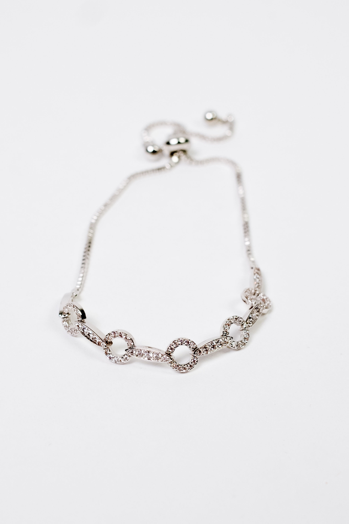 Accessories Rhinestone Circle Bracelet