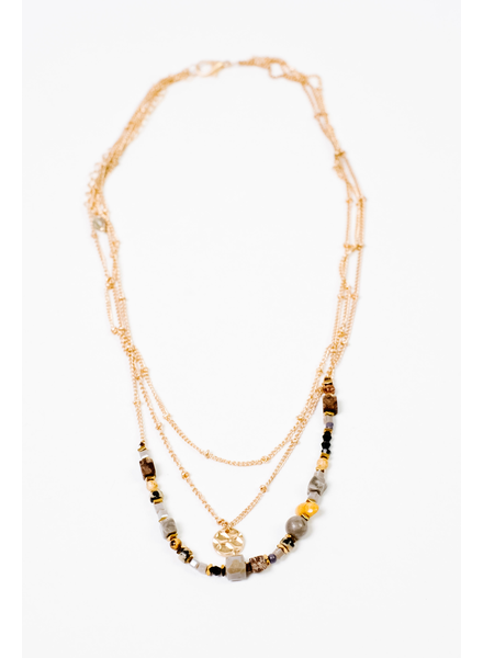 Accessories Gold Beaded Necklace