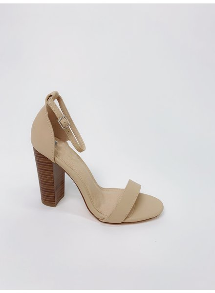 Pump Nude Ankle Strap Shoe