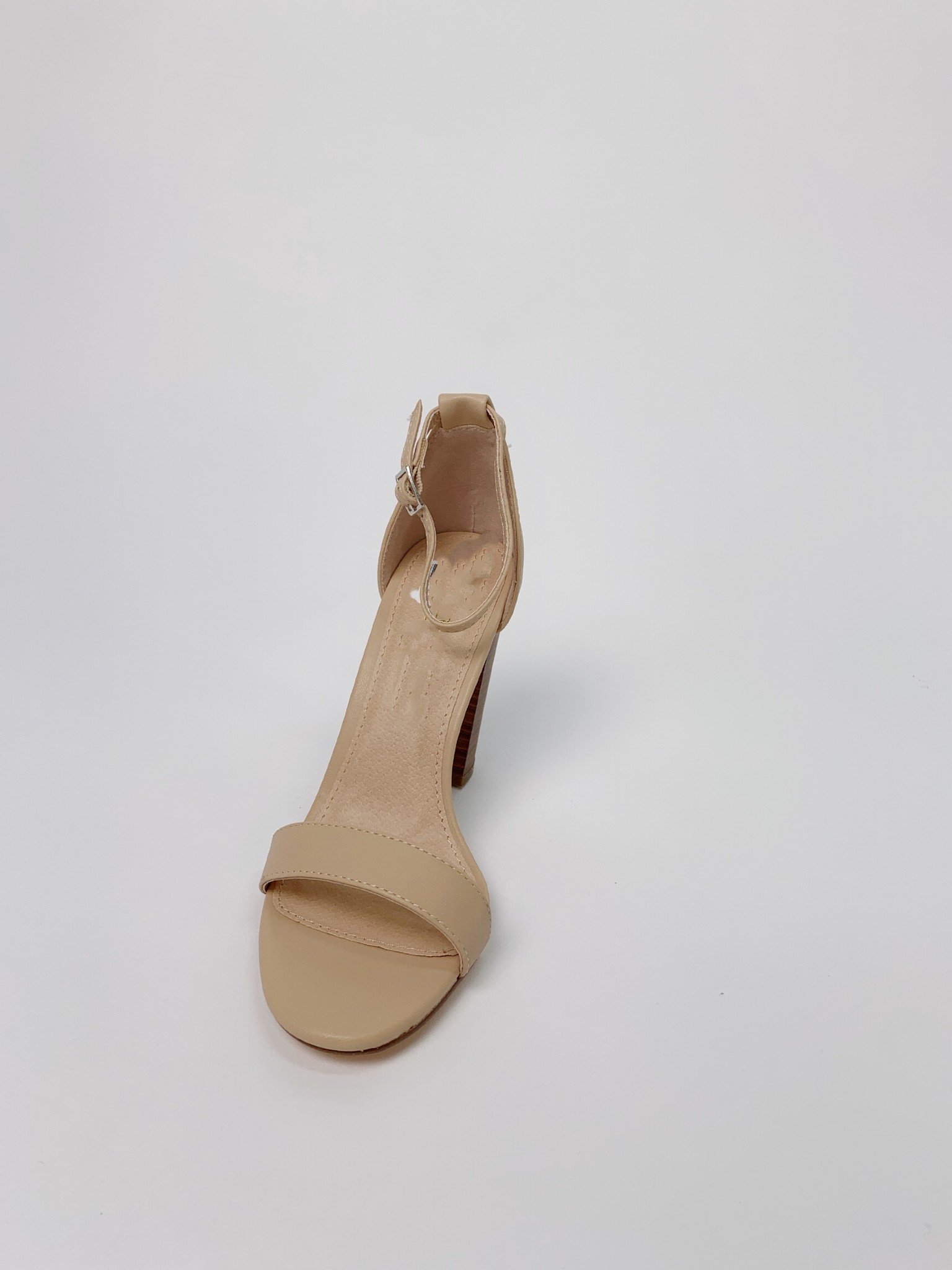 Pump Nude Ankle Strap Shoe