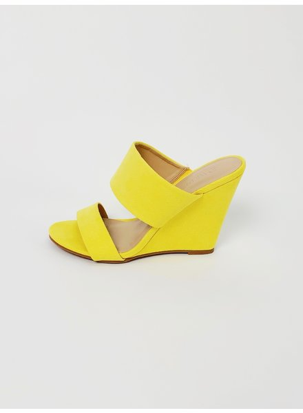 Wedge Yellow Strappy Wedge