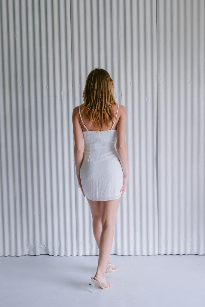 Mini White Wrap Mini