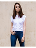 T-shirt White Rouched Tee