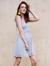 Mini Seafoam Tie Shoulder Dress