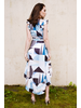 Midi Abstract High Low Dress