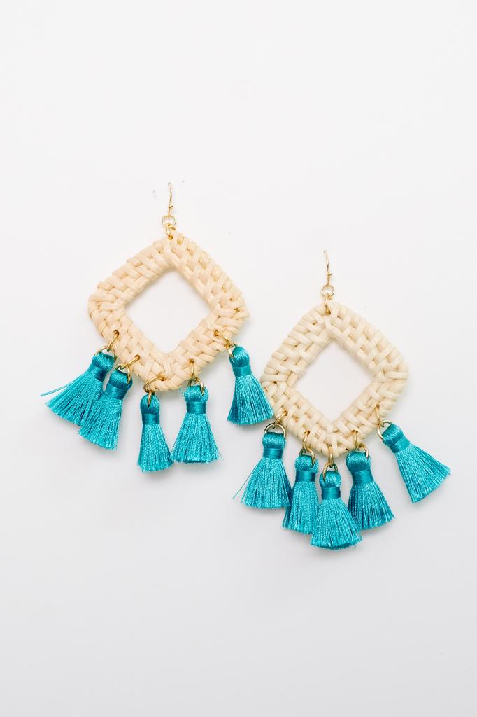 Accessories Diamond Wicker Earrings