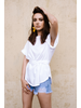 T-shirt Belted Dolman Top