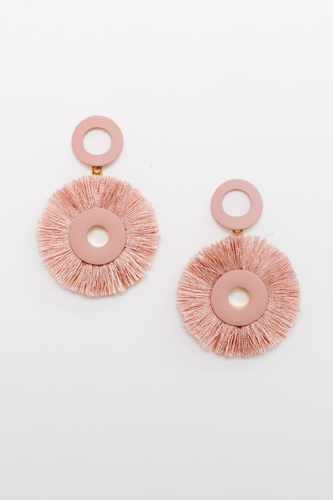 Accessories Pink Open O Statement Earrings