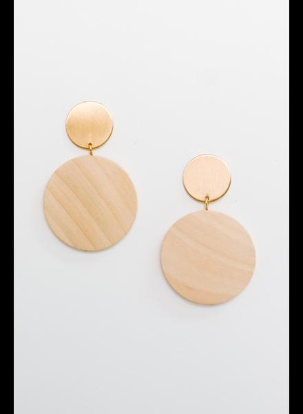 Accessories Wood Disc Earrings