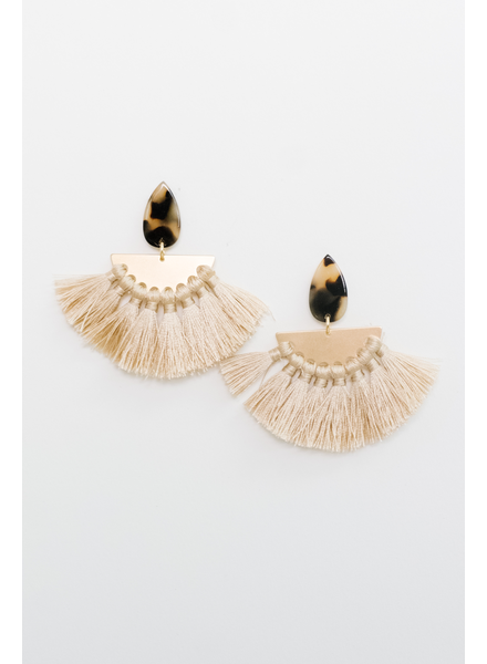 Accessories Tortoise Fan Earrings