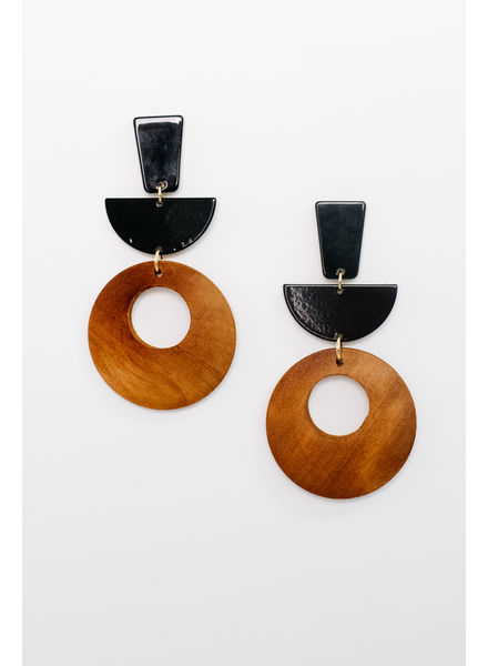 Accessories Two Tone Open O Earrings