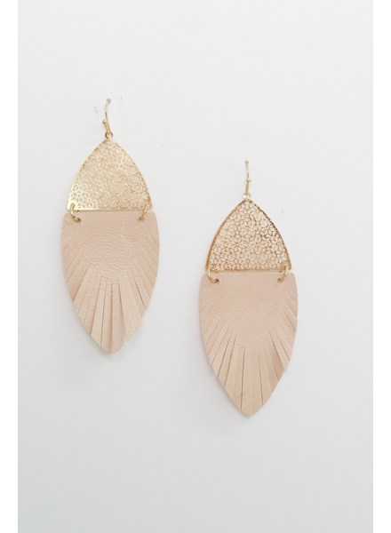 Accessories Feather Drop Earrings