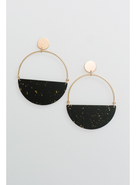 Accessories Gold Dotted Hoops