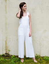 Casual White Summer Overalls