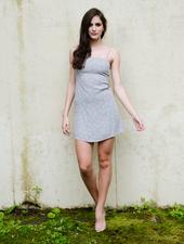 Mini Grey & Gold Mini Dress
