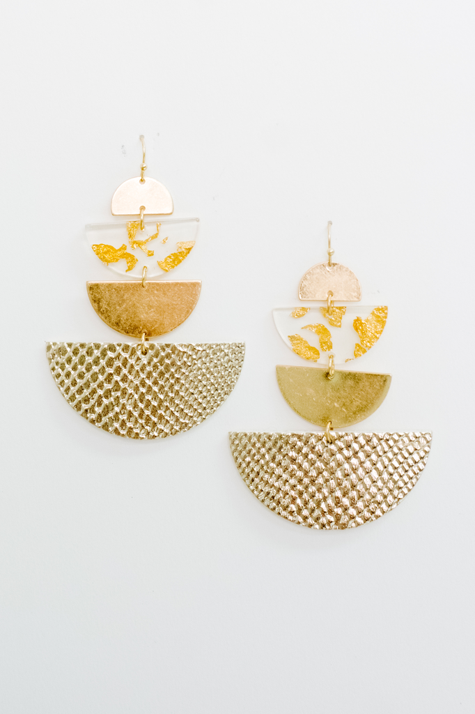 Accessories Gold Tone Drop Earrings