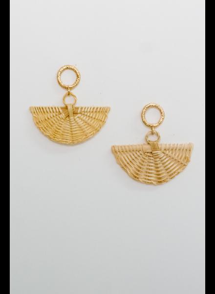 Accessories Mini Fan Earrings