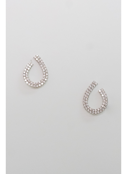 Accessories Open Teardrop Earrings