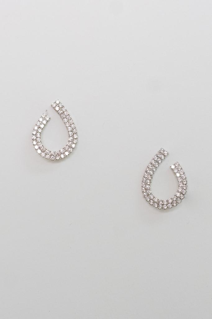 Accessories Open Teardrop Earrings