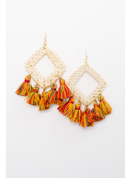 Accessories Multi Color Tassel Earrings