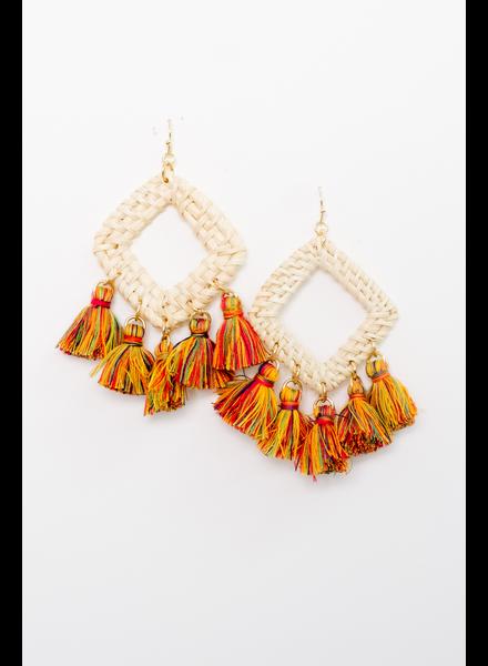 Accessories Multi Color Tassel Earrings