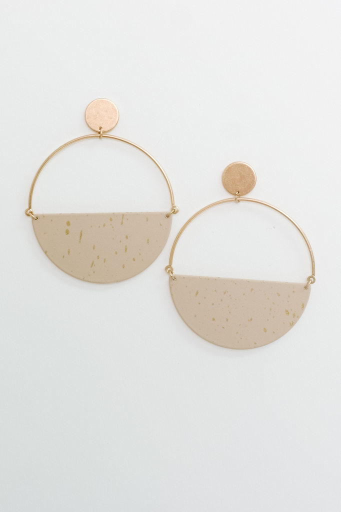 Accessories Two Tone Hoops