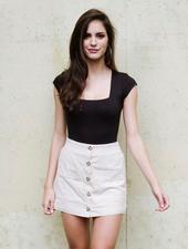 Skirt Sand Button Skort