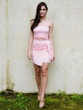 Skirt Red & White Wrap Skirt