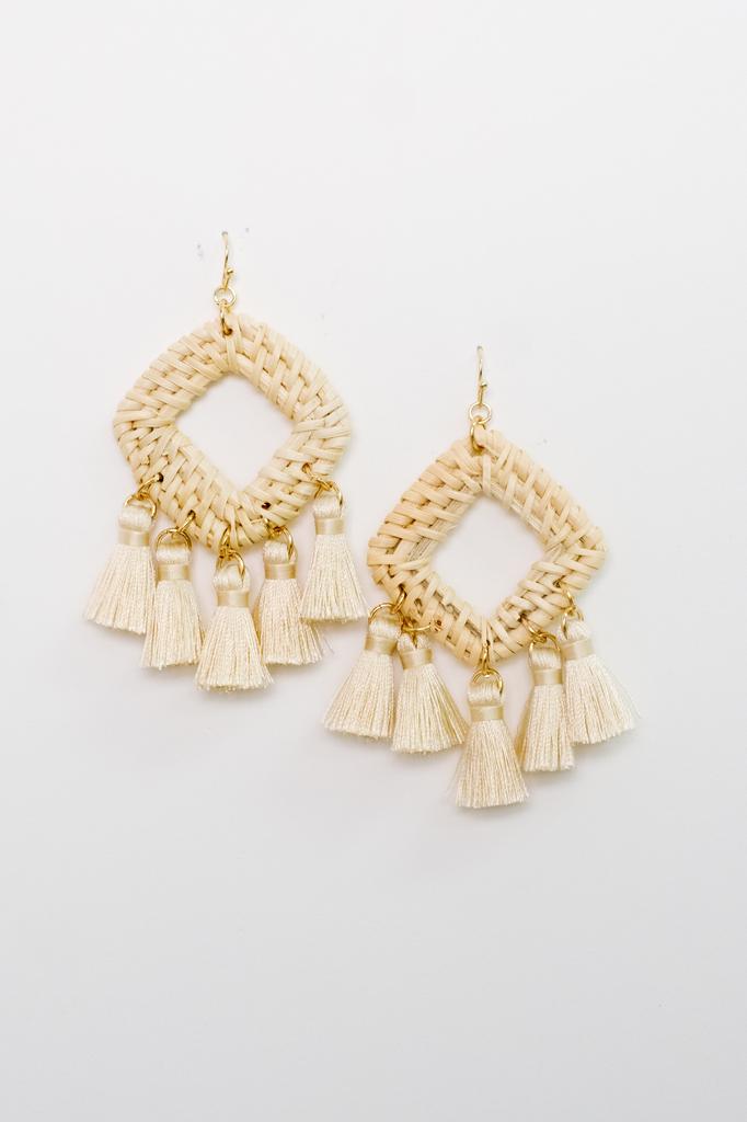 Accessories Boho Wicker Earrings