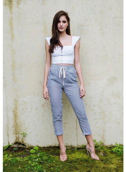 Pants Striped Drawstring Pants