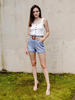 Short Paperbag High Waist Shorts