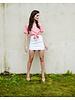 T-shirt Rose Tie-Front Top