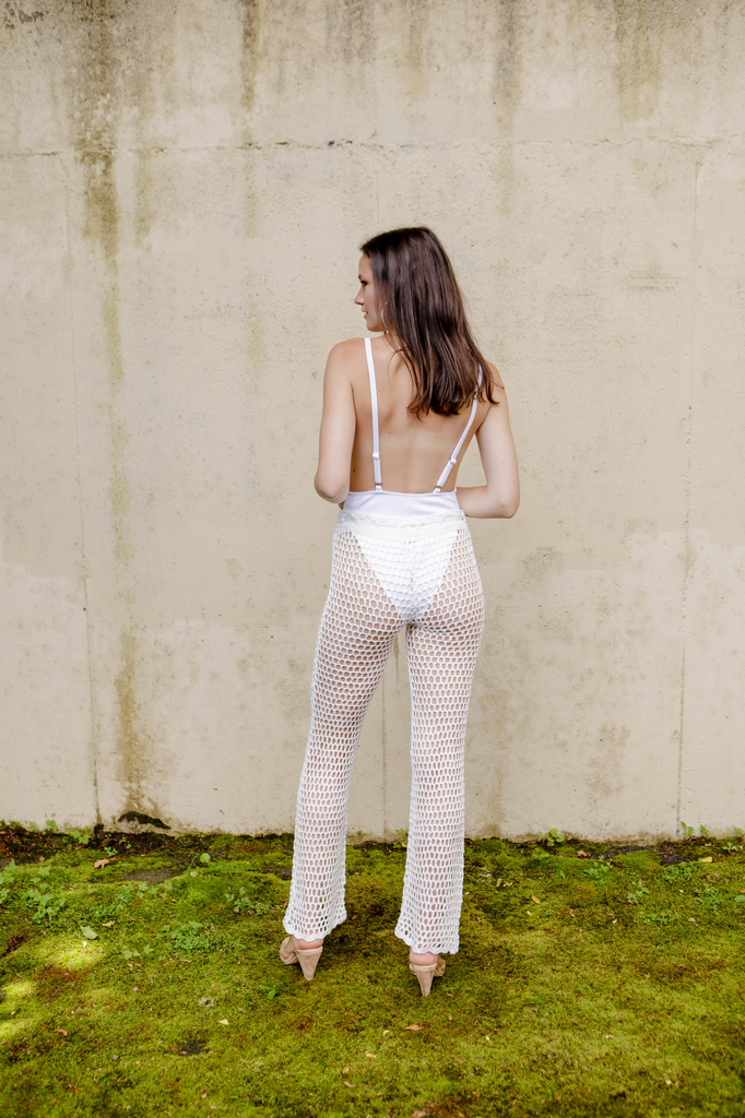 Pants White Netted Pant