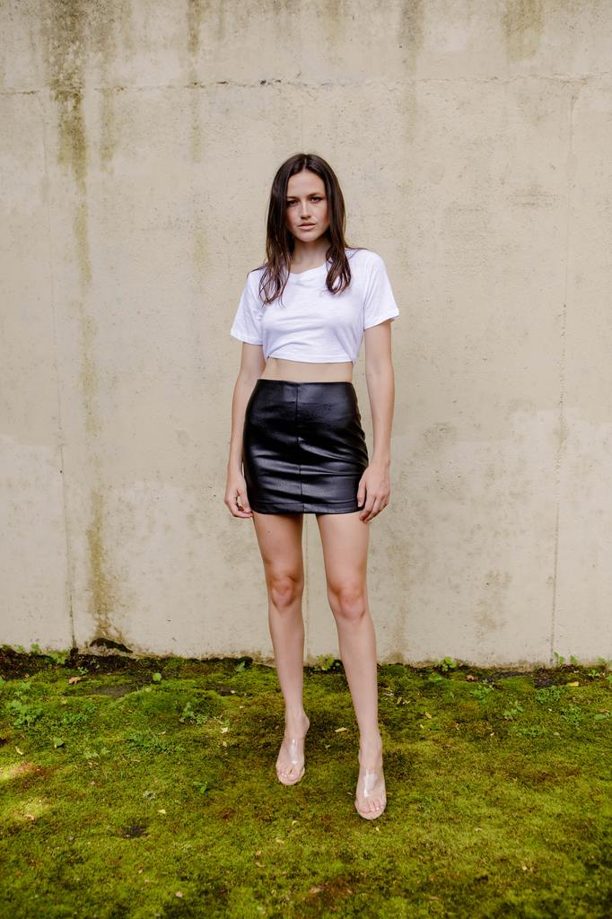 T-shirt High Tie Cropped Tee