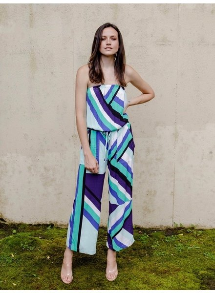 Jumpsuit Abstract Strapless Jumpsuit