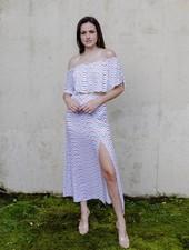 Skirt Wavy Maxi Skirt