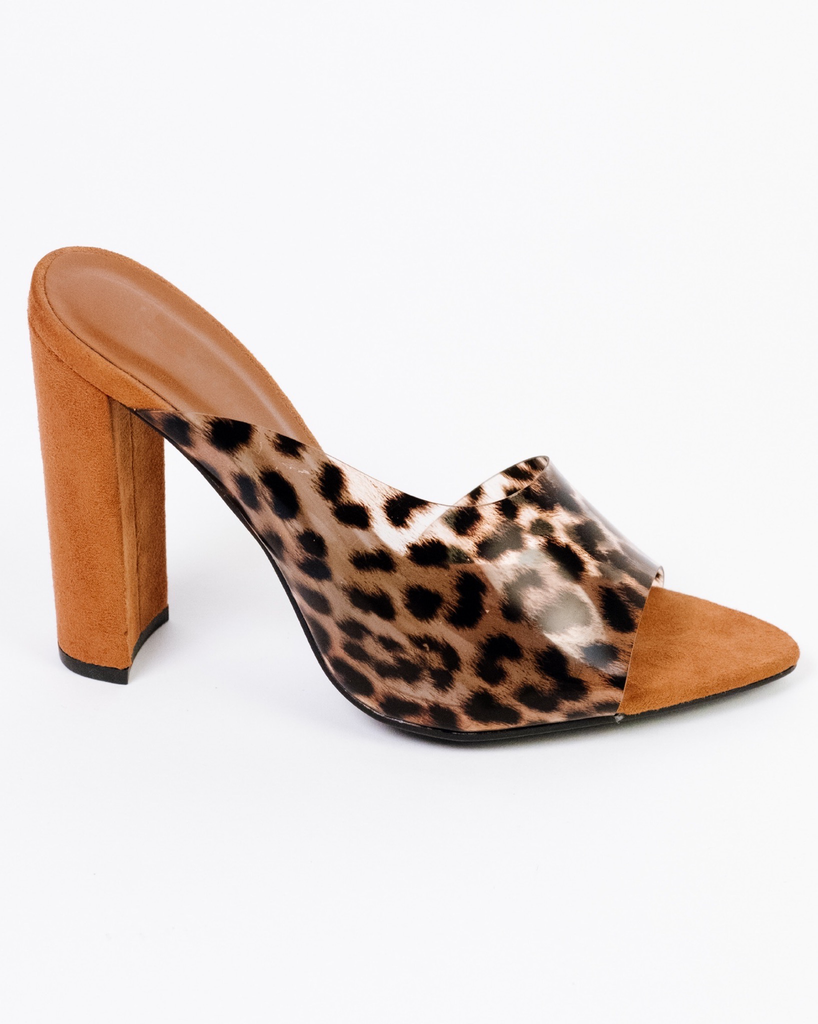 Pump Leopard Open Toe Heel