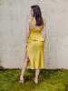 Skirt Silky Slit Midi Skirt