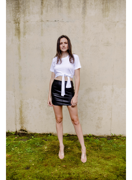 Skirt Black Leather Mini