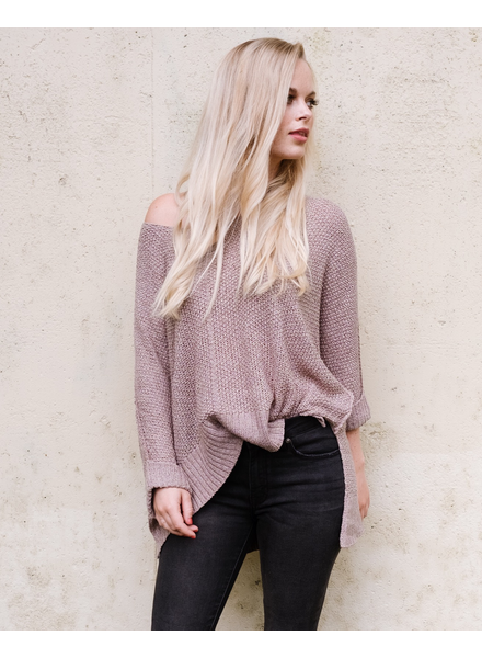 Sweater Mocha Cuff Knit