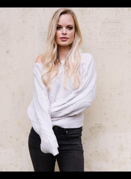 Sweater Knit Braided Dolman