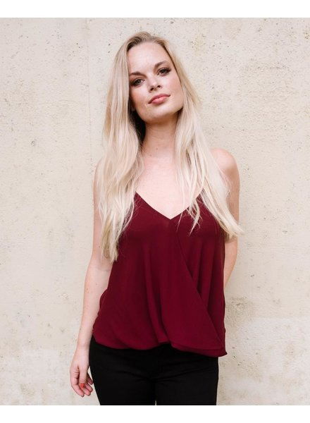 Tank Oxblood Cross Front Halter