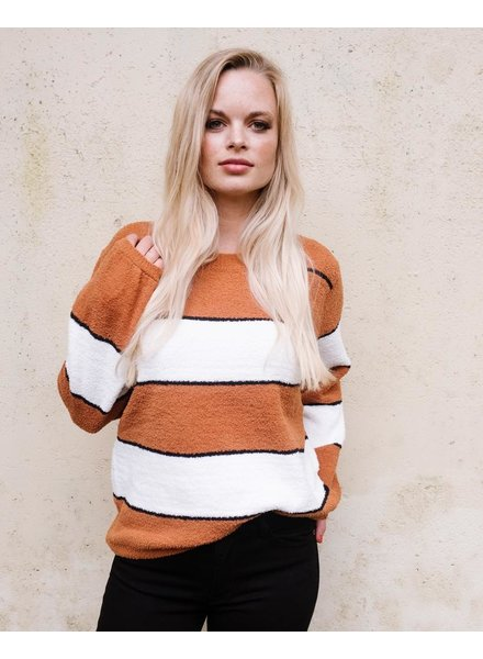 Sweater Retro Colorblock Sweater