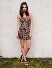 Mini Leopard Mini Dress