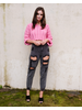 Sweater Pink Cropped Sweater